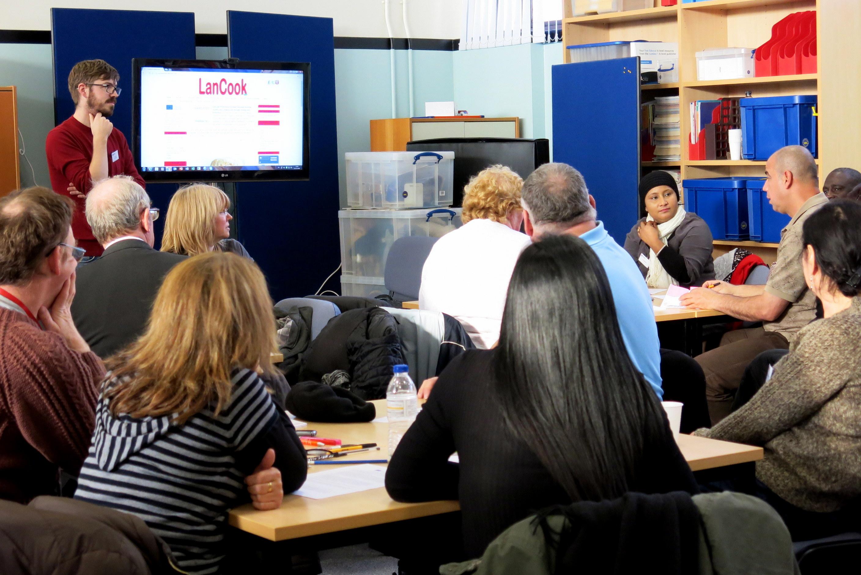 Demonstrating the Lancook project website